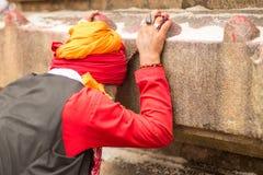 Ambubachi Mela 2016, Kamakhaya świątynia, Guwahati, Assam Obrazy Royalty Free