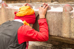 Ambubachi Mela 2016, Kamakhaya-Tempel, Guwahati, Assam Royalty-vrije Stock Afbeeldingen