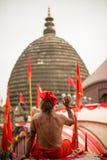 Ambubachi Mela 2016, Kamakhaya-Tempel, Guwahati, Assam Royalty-vrije Stock Afbeelding