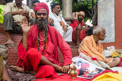 Ambubachi Mela 2014. Sadhu  at Maa Kamakhaya Temple atop Nilachal Hills in Guwahati, the capital city of India's northeastern state of Assam on the occasion of Stock Images