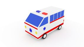 Ambulância camionete 3D Imagem de Stock
