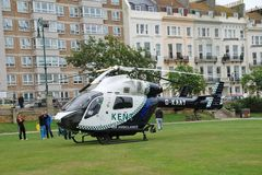 Ambulância de ar de Kent Fotografia de Stock