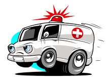 Ambulância dos desenhos animados ilustração stock
