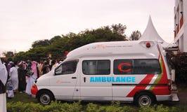 Ambulância durante um evento muçulmano África, Nairobi Kenya Foto de Stock Royalty Free