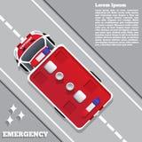 Ambulância na estrada Fotografia de Stock Royalty Free