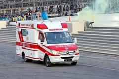 Ambulance à NDP 2009 Image libre de droits