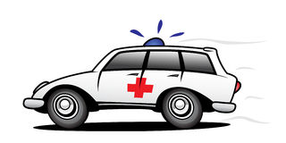 Ambulance. In action with siren Royalty Free Stock Photography