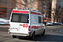 Ambulance. The ambulance car hastens for the aid royalty free stock photos