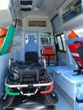 Ambulance. And equipment views from inside Royalty Free Stock Photography