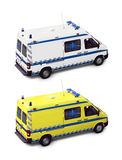 Ambulance. S isolated on a white background Royalty Free Stock Photo