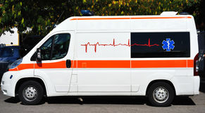 Ambulance. An Ambulance awaiting an emergency call royalty free stock photo