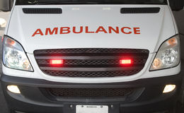 Ambulance. Front view of an ambulance stock photography