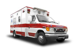 Ambulance. An Ambulance on White royalty free stock images