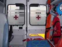 Ambulance. And equipment views from inside Royalty Free Stock Images
