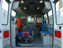 Ambulance. And equipment views from inside Stock Photo