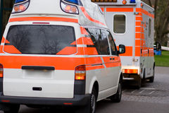 Ambulance. In action at evening Royalty Free Stock Photo