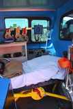 Ambulance. Emergency equipment in an ambulance interior Royalty Free Stock Images
