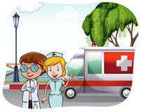ambulance illustration stock