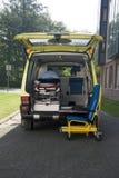 Ambulance. A ambulance car interieur detail Royalty Free Stock Photo