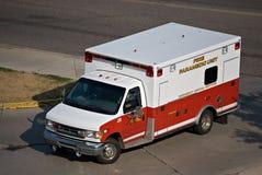 Ambulance. Turning on a road Stock Photo
