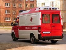 Ambulance. Red and white ambulance car Royalty Free Stock Photography