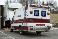 Ambulance. Rear View Royalty Free Stock Image