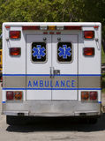 Ambulance. Rear View Royalty Free Stock Photography