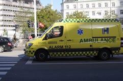 AMBULANCE_ALAR MÉDICAL DANOIS 112 Photographie stock libre de droits