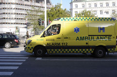 AMBULANCE_ALAR MEDICO DANESE 112 Immagine Stock