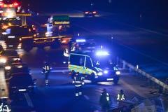 Ambulance au lieu de l'accident photographie stock libre de droits
