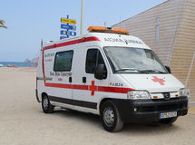 Ambulance on Beach Stock Photos