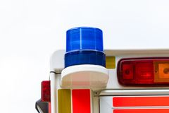 Ambulance blue lamp Royalty Free Stock Photos