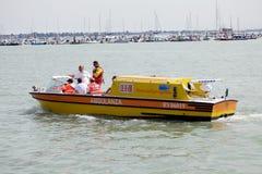 Ambulance boat Stock Image
