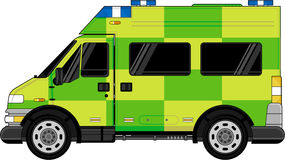 Ambulance britannique illustration stock