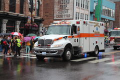 Ambulance on Broadway in Nashville, Tennessee Royalty Free Stock Photos