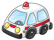 Ambulance car. Illustration of a white ambulance Stock Image