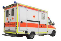 Ambulance car. Europa, Germany, Munich Royalty Free Stock Photography