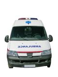 Ambulance car. Emergency red cross ambulance car stock photos