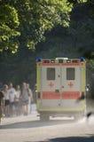 Ambulance car. Ambulance car in city garden. Europa, Germany, Munich Stock Photography