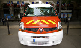 Ambulance car. French ambulance car at paris Stock Photo