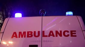 Ambulance car stock video footage