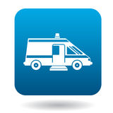 Ambulance car for the disabled icon, simple style Royalty Free Stock Photography