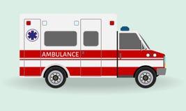 Ambulance car. Emergency medical service vehicle. Hospital transport. Royalty Free Stock Photo