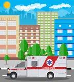 Ambulance car emergency vehicle hospital transport Stock Photos