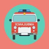 Ambulance car flat vector illustration Royalty Free Stock Photos
