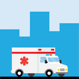 Ambulance car hurry to go. Medical concept illustration Royalty Free Stock Photography