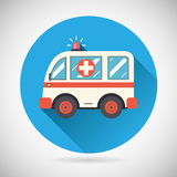 Ambulance car Icon Health Treatment Symbol  on Stock Images