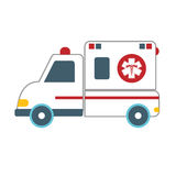 Ambulance car icon image Stock Images