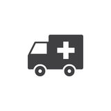 Ambulance car icon , solid logo illustration, pictogram is Royalty Free Stock Photography