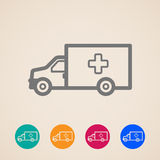Ambulance car icons Royalty Free Stock Photo